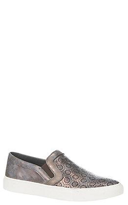 Corkys Women's Metallic Bronze Floral Eyelet Detail Sneakers