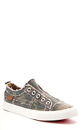 Corkys Women's Babalu Camo Print Canvas Slip On Sneakers Casual Shoe