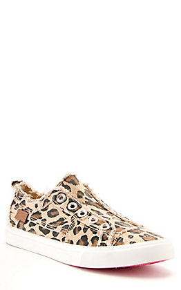 Corkys Women's Babalu Leopard Print Canvas Slip On Sneakers Casual Shoe
