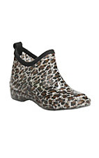 Corkys Womens Cheetah Round Toe Rain Shoe