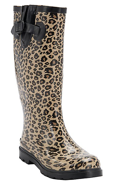 Corky's Women's Cheetah Sunshine Round Toe Rain Boots | Cavender's