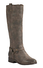 Corky's Women's Distressed Brown w/ Gore Harness Round Toe Tall Riding Boots