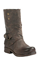 XKH Corky's Women's Crow Distressed Brown w/ Turn Down Flap Round Toe Boots