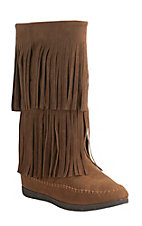 Corky's Women's Mohawk Chestnut with Fringe Round Toe Moccasin Boots