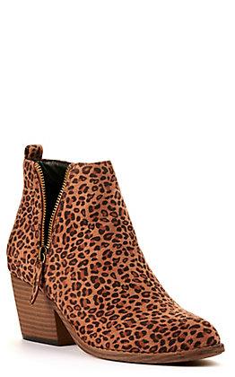 Corkys Women's Tombstone Leopard Print V-Zip Bootie