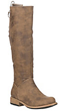Corky's Women's Ventura Brown Distressed Faux Suede Riding Boot