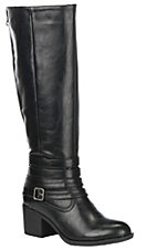 Corky's Women's Black Faux Leather Zip Up Boot