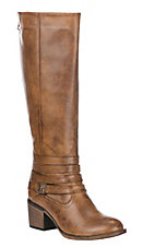 Corky's Women's Brown Faux Leather Zip Up Boot