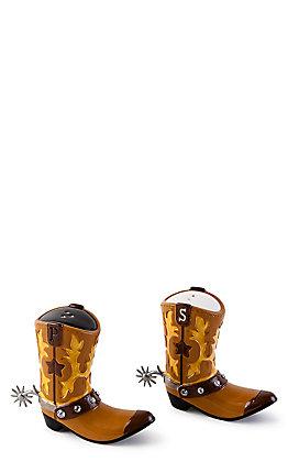One Hundred 80 Degrees Cowboy Boot Salt and Pepper Shaker Set
