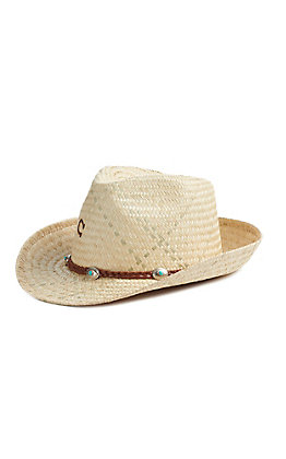 Charlie 1 Horse Women's Taxco N Straw Fedora Hat