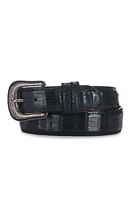 Cavender's Men's Black Caiman Belly Belt