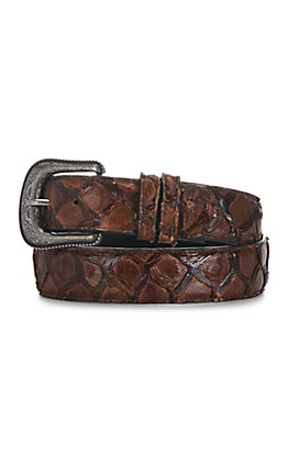 Cavender's Men's Chocolate Pirarucu Fish Belt