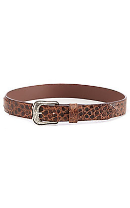 Cavender's Men's Brown Gator Print Western Belt