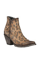 Cavender's By Old Gringo Women's Honey Leopard Print Zip Up J-Toe Boots
