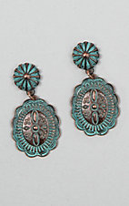 Silver Strike Patina Concho with Starburst Stud Earrings