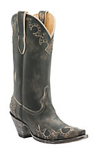Cavender's by Old Gringo Women's Sylvan Beige with Studs Snip Toe Western Boots