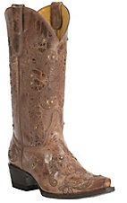 Cavender's by Old Gringo Women's Vintage Tan Goat with Floral Embroidery Snip Toe Western Boots