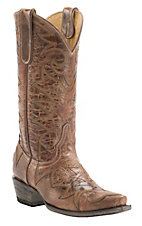 Cavender's by Old Gringo Women's Vintage Tan Goat with Fancy Stitch Snip Toe Western Boots