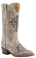 Cavender's by Old Gringo Women's Vintage Tan Goat with Chocolate Cross Square Toe Western Boots