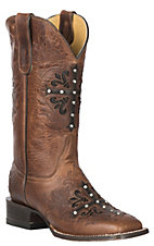 Cavender's by Old Gringo Women's Tan Frida Calf w/ Cross Overlay Western Square Toe Boots