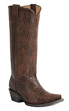 Cavender's by Old Gringo Women's Vintage Brass Goat with Peacock Embroidery Snip Toe Western Boots