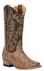 Cavender's by Old Gringo Women's Burnished Tan Caiman Punchy Square Toe Exotic Western Boots