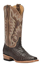Cavender's by Old Gringo Women's Chocolate Caiman Punchy Square Toe Exotic Western Boots