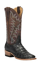 Cavender's by Old Gringo Women's Black Caiman Punchy Square Toe Exotic Western Boots
