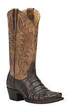 Cavender's by Old Gringo Women's Chocolate Camain Snip Toe Exotic Western Boots