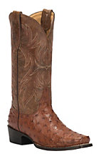 Cavender's by Old Gringo Women's Brandy Full Quill Ostrich Punchy Square Toe Exotic Western Boots