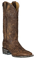 Cavender's by Old Gringo Women's Vintage Brown with Brown Embroidery Square Toe Western Boots