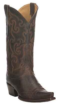 Cavender's by Old Gringo Women's Burnished Chocolate Goat Snip Toe Western Boots