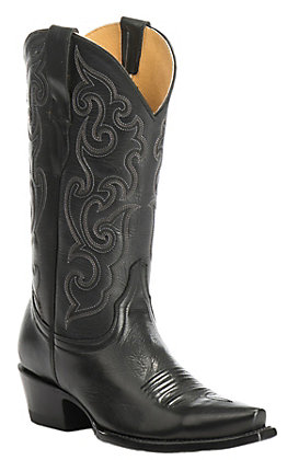 Cavender's by Old Gringo Women's Black Ranchero Snip Toe Western Boots