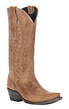 Cavender's by Old Gringo Women's Vintage Tan Goat Snip Toe Western Boots