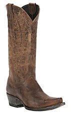 Cavender's by Old Gringo Women's Ochre Brown Niza Goat with Embroidery Snip Toe Western Boots