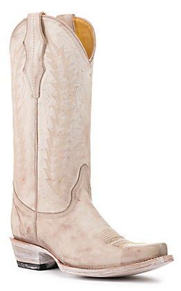Cavender's by Old Gringo Women's Apache Bliss Grey Snip Toe Western Boots