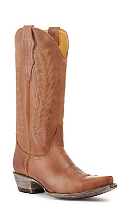 Cavender's by Old Gringo Women's Apache Tan Snip Toe Western Boots