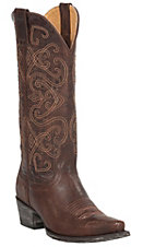 Cavender's by Old Gringo Women's Chocolate Splendora Goat Snip Toe Western Boots