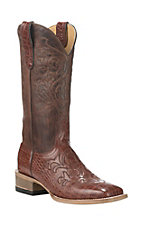 Cavender's by Old Gringo Women's Cognac with Brick Upper Western Square Toe Boots