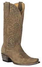 Cavender's by Old Gringo Women's Honey Distressed Western Snip Toe Boots