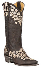 Cavender's by Old Gringo Women's Chocolate Goatskin w/ Embroidery Western Snip Toe Boots