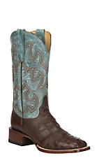 Cavender's by Old Gringo Women's Sienna Saddle Vamp Full Quill Ostrich Western Exotic Square Toe Boots