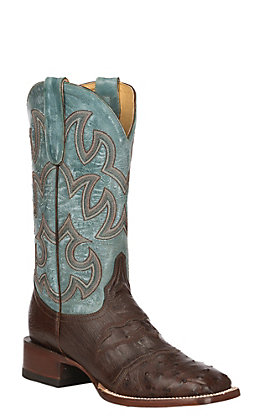 Cavender's by Old Gringo Women's Sienna Saddle Vamp Full Quill Ostrich Exotic Western Square Toe Boots