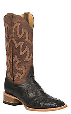 Cavender's by Old Gringo Women's Black Full Quill Ostrich Exotic Western Square Toe Boots