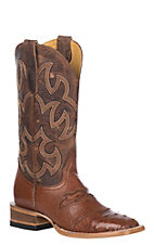 Cavender's by Old Gringo Women's Brandy Full Quill Ostrich Exotic Western Square Toe Boots