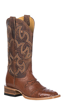 Cavender's by Old Gringo Women's Brandy Full Ostrich Exotic Square Toe Western Boots
