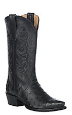Cavender's by Old Gringo Women's Black Triad Full Quill Ostrich Snip Toe Western Boot
