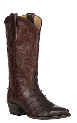 Cavender's by Old Gringo Women's Sienna Triad Full Quill Ostrich Snip Toe Western Boot