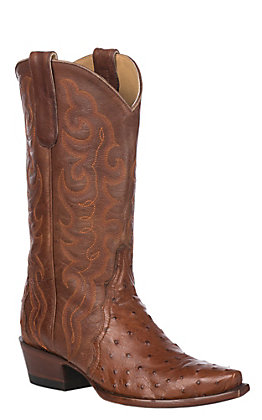 Cavender's by Old Gringo Women's Brandy Full Quill Ostrich Exotic Snip Toe Western Boots