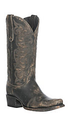 Cavender's by Old Gringo Women's Rustic Beige Stonewash Punchy Toe Western Boot